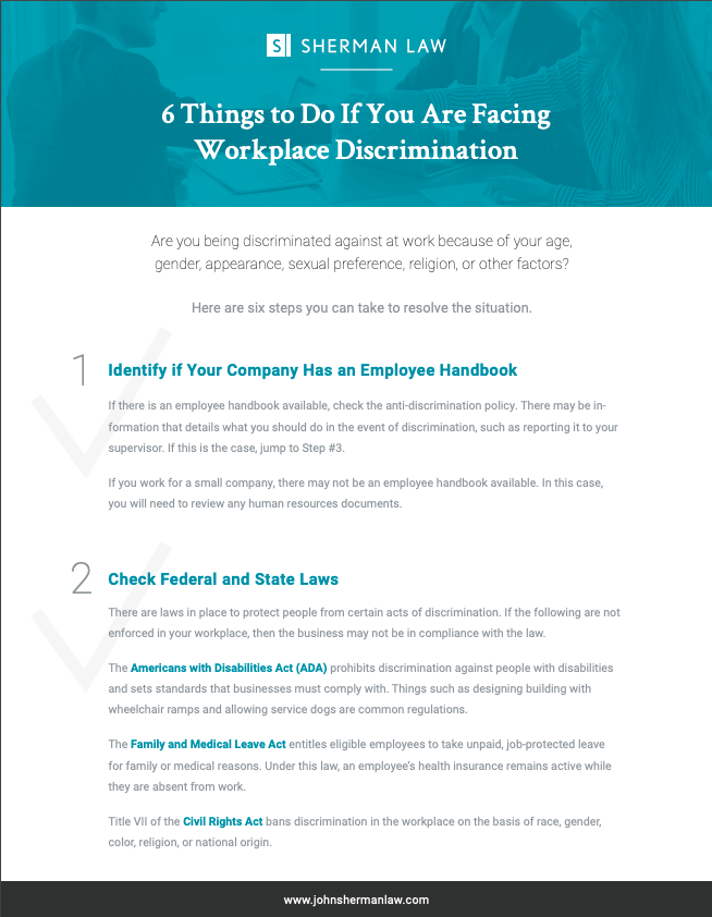 [Checklist] 6 Things to Do If You Are Facing Workplace Discrimination